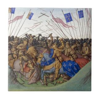 Carreau Bataille de Fontenoy-en-Puisaye dans 841 par Jean