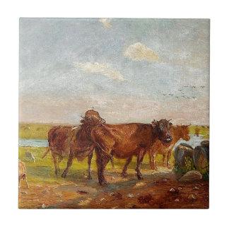 Carreau Bétail sur Saltholm par Theodor Philipsen
