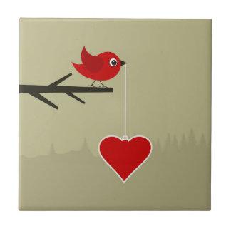 Carreau Birdie avec le coeur