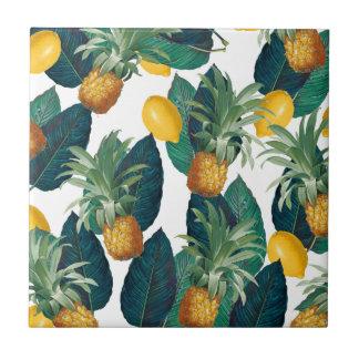 Carreau blanc d'ananas et de citron