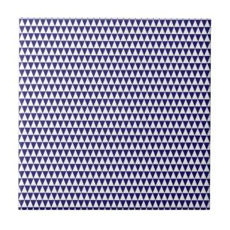 Carreau Bleu et blanc de cobalt géométrique de motif de