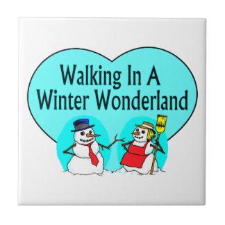 Carreau Bonhommes de neige du pays des merveilles d'hiver