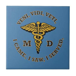 Carreau Bouclier du caducée VVV de docteur MD