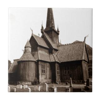 Carreau Cadeau gothique vintage de tuile d'église et de