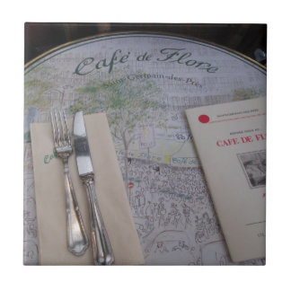 Carreau Cafe de Flore, Paris, France - couvert, menu