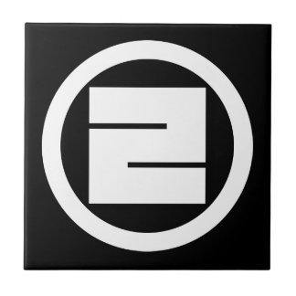 Carreau Caractère de kanji carré pour UN en cercle