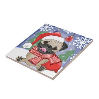 Carreau Carlin d'hiver de saison de Noël