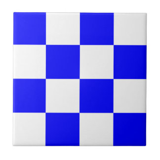 Carreau Carré Checkered blanc bleu de NOVEMBRE