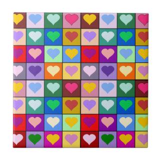 Carreau Carrés colorés de coeur