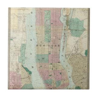 Carreau Carte de New York et de proximité