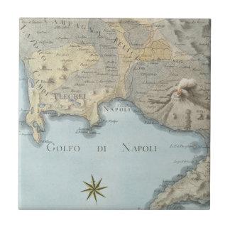 Carreau Carte du Golfe de Naples et d'abords