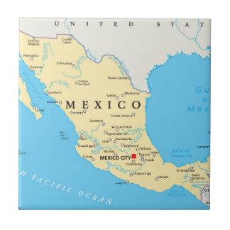 Carreau Carte politique du Mexique