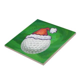 Carreau Casquettes de Noël de boule de golf