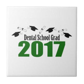 Carreau Casquettes du diplômé 2017 d'école dentaire et