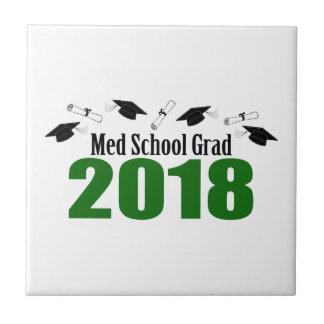 Carreau Casquettes du diplômé 2018 d'école de Med et