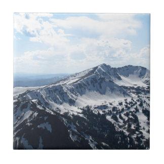 Carreau Chaîne de montagne d'hiver