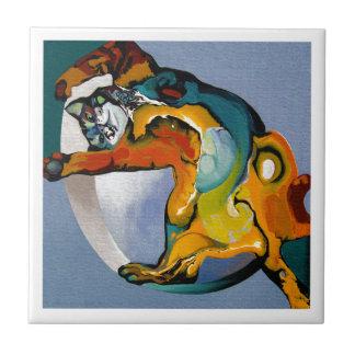 Carreau chat de peinture