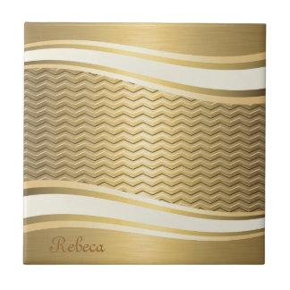 Carreau Chevron à la mode de luxe d'or d'attracutve
