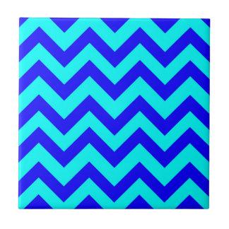 Carreau Chevrons bleu-foncé et bleu-clair