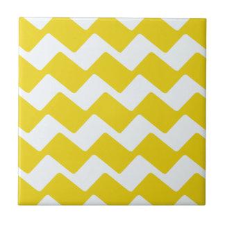 Carreau Chevrons onduleux jaunes et blancs