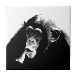 Carreau Chimpanzé blanc noir