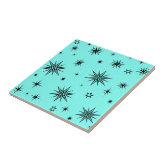 Carreau Ciel de turquoise avec des étoiles