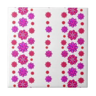 Carreau Collage floral de motif de rayures verticales