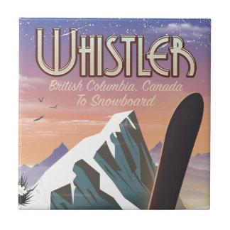 Carreau Colombie-Britannique de Whistler faisant du surf