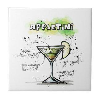 Carreau Conception de recette de boissons d'AppleTini
