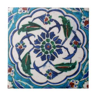 Carreau Conception florale bleue et blanche de tuile d'ère