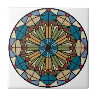 Carreau conception géométrique de motif en verre souillé