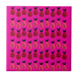 Carreau Conception rose d'ananas