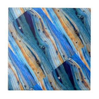 Carreau conseils en bois bleus rustiques à angles