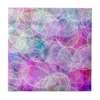 Carreau Copie abstraite d'art de bulle d'arc-en-ciel