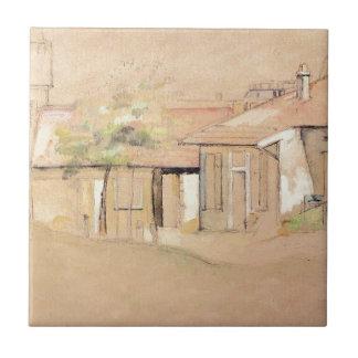 Carreau Cottaages par Paul Cezanne