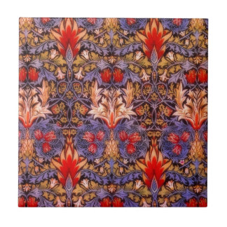 Carreau Cru de William Morris Snakeshead floral