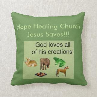 Carreau curatif de chrétien d'église d'espoir oreillers