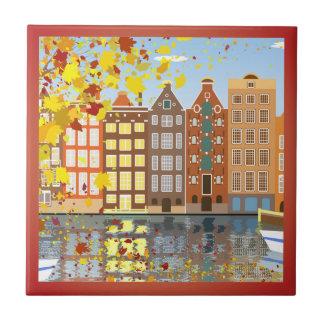 Carreau de céramique coloré d'automne de canal de