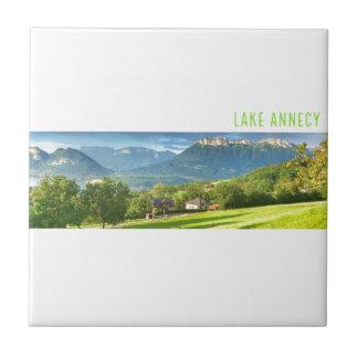 Carreau de céramique d'Annecy de lac