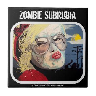 "Carreau de céramique ""de banlieue de zombi"""