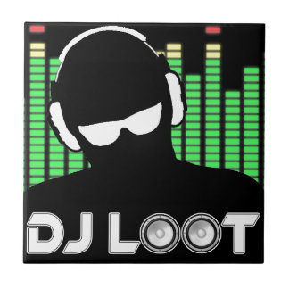 Carreau de céramique de butin du DJ