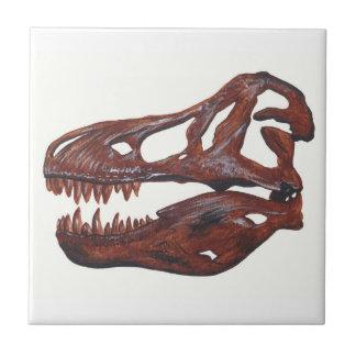 Carreau de céramique de crâne de rex de