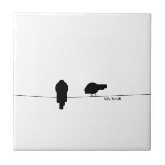 Carreau de céramique de photo noire et blanche