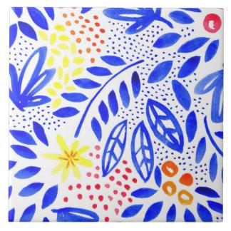 Carreau de céramique floral audacieux de belle - 1