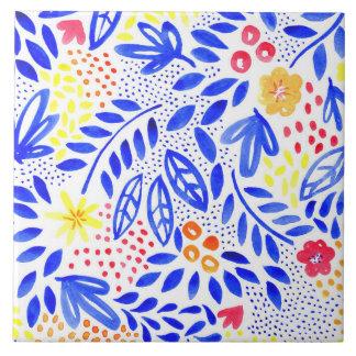 Carreau de céramique floral audacieux de belle - 4