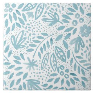 Carreau de céramique floral bleu de belle - 2