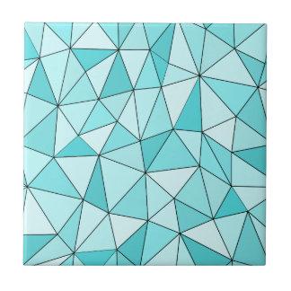 Carreau de céramique moderne de triangles cyan