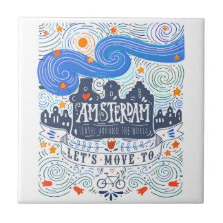 Carreau Déplaçons-nous à Amsterdam