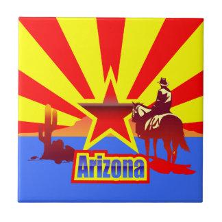 Carreau Dessin vintage de drapeau d'état de l'Arizona