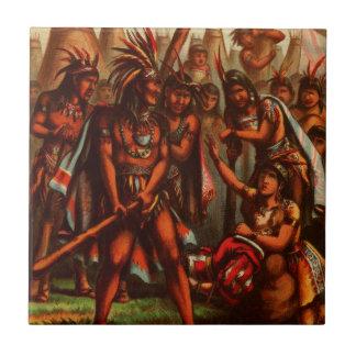 Carreau Dessin vintage : Pocahontas, princesse indienne